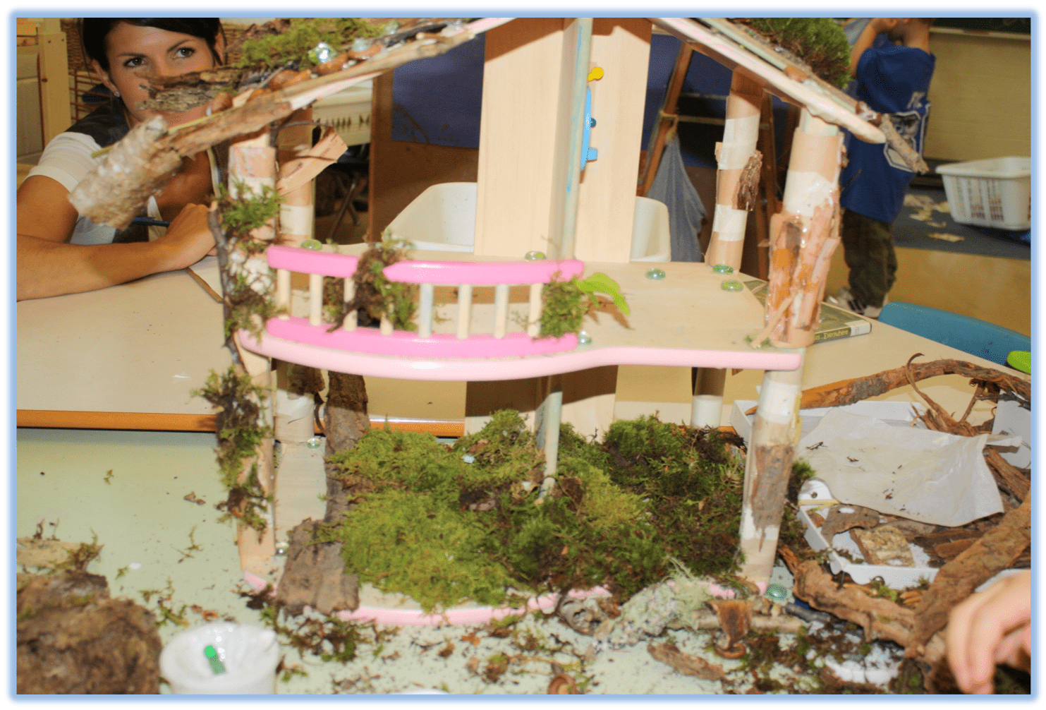 Creative play with model house